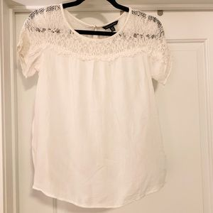 American Eagle Ivory Lace Blouse